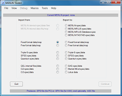 MERLIN Toolkit import / export lists